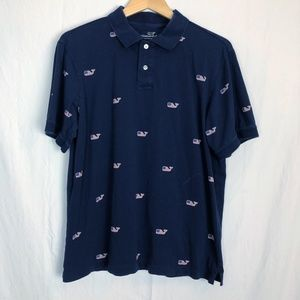 Vineyard Vines USA Flag Whale Polo Size Large